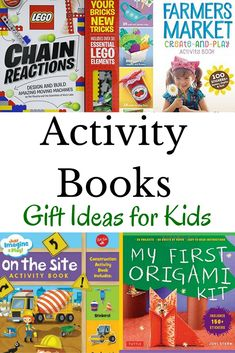 Activity books make great gift ideas for kids. Perfect for holiday gifts or birthday presents. Lego Activities, Fun Activities For Kids, Reading Activities, Hands On Activities, Activity Books, Good Night Moon, Book Suggestions, Early Literacy, Toddler Fun