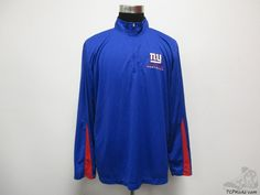 NFL New York Giants Quarter Zip Light Jacket sz XL Extra Large Big Blue Crew #NFL #NewYorkGiants