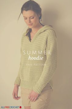 I definitely want to try and crochet this hoodie. It looks so light and cozy at the same time. Free crochet pattern.