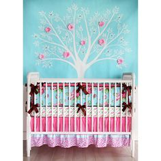 Girl nursery- turquoise, purple and pink