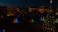 Vintage Township Lubbock, TX Christmas Lights. Photo by Swing Wing Productions