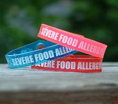 Food allergy bracelets, etc. Good site for parents with young children.