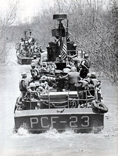 Combined U.S. Army–U.S. Navy forces operating in the Mekong Delta in April 1969. Vietnam War