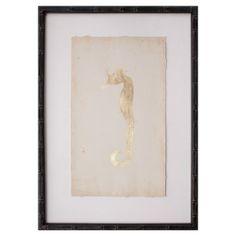 Gold Leaf Sea Horse I