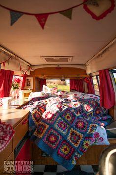 LilVintage Makes Camper van Stories Bay Camper Ethel Retro interior