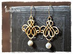 Oriental Swirl Earrings
