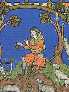 (Maciejowski Bible) Paris Fol David obtains Goliath's sword, bystander holding shepherds crook Fol The shepherd, David Fol. The shepherd, David Medieval Music, Medieval Life, Medieval Clothing, Medieval Art, Medieval Manuscript, Illuminated Manuscript, High Middle Ages, Medieval Paintings, Medieval Costume