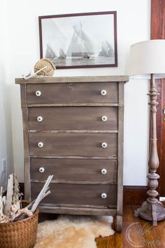 Driftwood Painted Dresser from Finding Silver Pennies