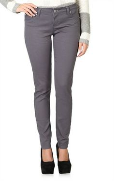 Deb Shops Reign Sateen Color Jeggings $20.17