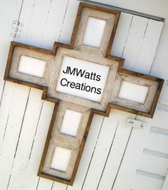 cross frame collage white 18x10 and 54x6 by jmwattscreations 9500