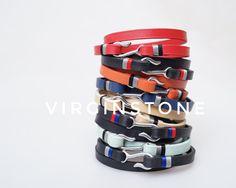 VIRGINSTONE leather hook bracelets