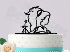 Beauty and the Beast Wedding Cake Topper by Bee3DGifts on Etsy