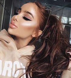 Kiss Makeup, Glam Makeup, Love Makeup, Makeup Inspo, Makeup Cosmetics, Makeup Inspiration, Beauty Makeup, Hair Makeup, Hair Beauty