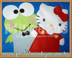 Fantoches Hello Kitty & Keroppi