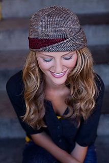 This pattern was originally designed for Knitscene Winter 2012 and is now available for purchase on Ravelry. Women's vintage style cloche featuring a short row, fold-over brim and woven, contrast band.