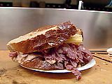 Zingerman's Reuben Sandwich. People line up outside at Zingerman's to order sandwiches. Find out why.