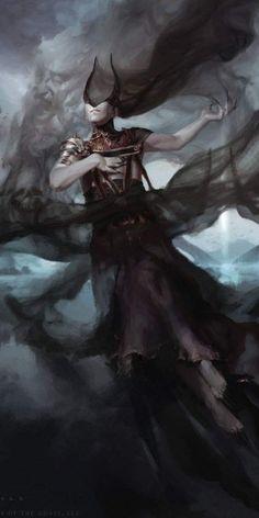 Ashiok, Dream Render - War of the Spark Art Vampires, Rpg Pathfinder, Character Inspiration, Character Art, Spark Art, Mtg Art, Illustrations, Weird Art, Magic The Gathering