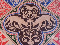 Floor Tiles from Sainte-Chapelle, Paris Sainte Chapelle Paris, The Duke Of Burgundy, Medieval Pattern, Paris Winter, Bizarre Facts, Commonplace Book, Wolf Design, Wolf Spirit, Paris Travel