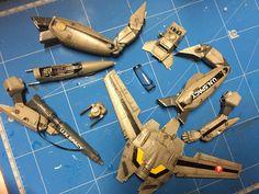 Robotech Macross / Valkyrie VF-1S model - step 03