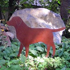 Rusty Finish Lab Labrador Retriever Metal Garden Art Yard - All For Garden Labrador Retriever, Dogs Golden Retriever, Plasma Cutter Art, Metal Projects, Metal Crafts, Outdoor Projects, Metal Yard Art, Horseshoe Art, Metal Artwork