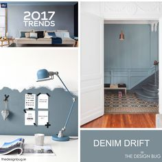 Dulux have announced the colour for 2017, a soft timeless blue-grey hue  named Denim Drift.  A team of international experts and trend experts from  different design discipline came together and selected this shade as the  one we will be seeing a plenty next year in the world of interiors, design