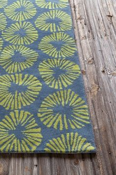 Allie Wool Rug - Blue/Green - 5ft. x 7ft. 6in.