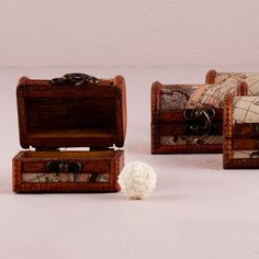 Set of 6 Mini Treasure Chests - Personalized Wedding Favor - Wedding Favor - Personalized Party Favors - Personalized Treasure Chest