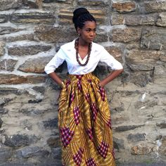 African Print Skirt Laura Maxi by CHENBURKETTNY on Etsy