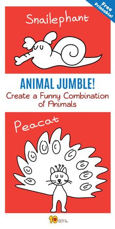 Fun Activities to do with your kids at home - Animal Jumble