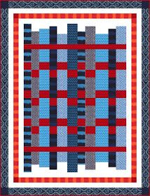 = free pattern = Indo Ikat quilt, 58 x by Heidi Pridemore for Michael Miller Fabrics Easy Quilt Patterns Free, Bed Quilt Patterns, Jelly Roll Quilt Patterns, Free Pattern, Skirt Patterns, Blouse Patterns, Sewing Patterns, Quilting Tutorials, Quilting Projects