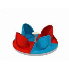 Carusele 4 locuri plastic locuri de joaca parc ELEMENTS AP1574
