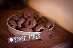 "Chocolate glazed donut ""spare tires"""
