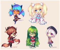 C: Usana and Loliana by Hyanna-Natsu on DeviantArt Venus Images, Hyanna Natsu, Chibi Characters, Fictional Characters, Cute Anime Chibi, Anime Dress, Cute Art, Character Design, Sketches