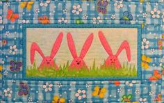 Bunny Wall Hanging  Peek A Boo Quilt by castillejacotton on Etsy, $39.00