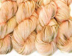 Vegan hand dyed bamboo yarn Silky sweets organic pink by Klarabela
