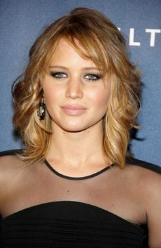 Medium+Length+Hairstyles+With+Bangs | Jennifer Lawrence Layered Hairstyle by nannie