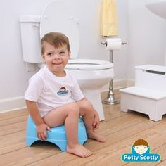 How to potty train boys - good tips for when the time comes.