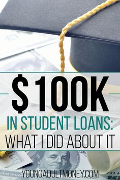 My wife and I graduated from college with a total of $100k in student loan debt. In this post I explain what I did about my student loans.