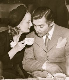 carole lombard and clark gable.  A beautiful, short love story for the pre WW2 era.  She died in a plane crash during the war while selling war bonds...