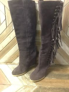 ea50d86f9a1 Coach Women Dollie Wedge Suede Boot  Size 7.5 B  Brown