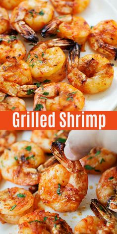 Easy grilled shrimp with marinade and seasoning of paprika, honey, butter and lemon. The best grilled shrimp recipe that takes only 15 mins to make. Grilled Shrimp Seasoning, Easy Grilled Shrimp Recipes, Marinated Grilled Shrimp, Mexican Shrimp Recipes, Best Shrimp Recipes, Seafood Recipes, Summer Shrimp Recipe, Marinade For Shrimp Kabobs, Steak Kabobs