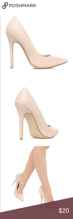 ✨NEW Nude Stiletto Pumps NEW never worn nude stiletto pumps from Shoedazzle. Built in pads at ball of foot for added comfort! Perfect classic shoe to go with any outfit! Shoe Dazzle Shoes Heels