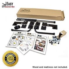 Queen-Size-Easy-DIY-Murphy-Bed-Hardware-Kit-Vertical-Wall-Mount-Style