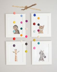 DIY nursery mobile // animal prints decor
