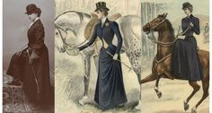 What a Delightful Habit; lovely Victorian ladies and their horse ...