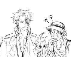 One Piece, Monkey D. Luffy, Sabo.