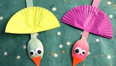 Wooden Spoon Christmas Friends - Kid Craft Bird Puppet, Wooden Spoons, Snakes, Craft Tutorials, Puppets, Cool Kids, Wood Crafts, Crafts For Kids, Seasons