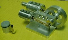 A Stirling engine as shown on MadModder