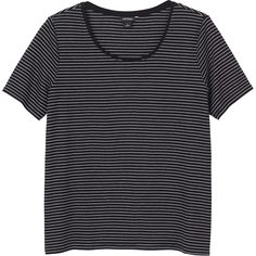 Monki Maja top (€9,09) ❤ liked on Polyvore featuring tops, t-shirts, shirts, clothes - tops, sleek stripes, striped t shirt, shirt top, tee-shirt, stripe top and monki