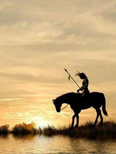 Caboclo em seu cavalo.
